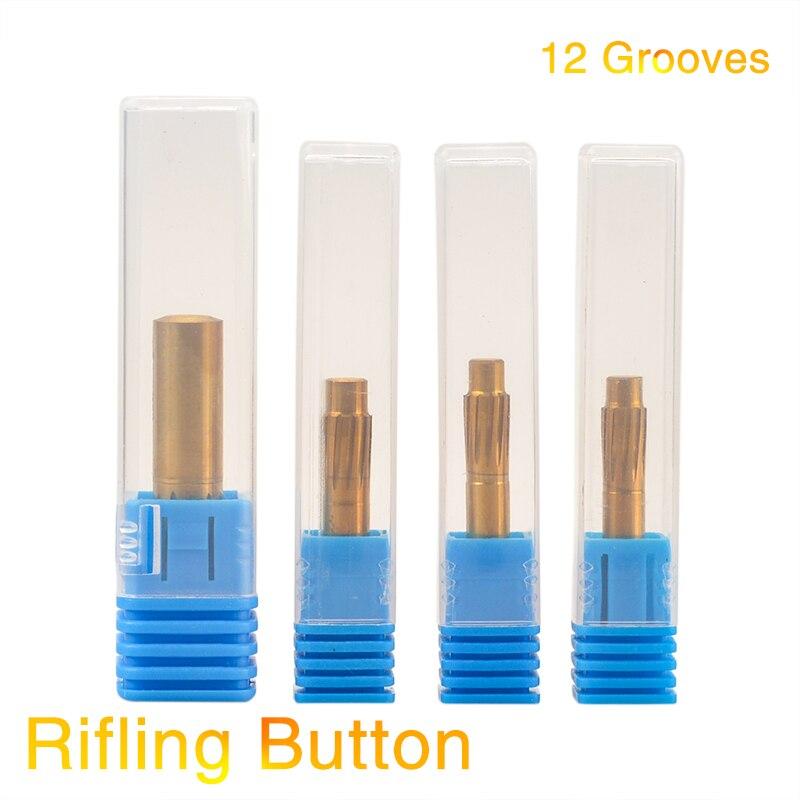 Botão de rifling 5.5mm 5.6mm 6.35mm 9.0mm 12 flautas câmara de liga dura máquina helicoidal reamer quebrar acessórios de ferramenta duráveis