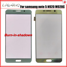Used Original Note 5 LCD With middle Burn For samsung Galaxy note 5 LCD Display N920 N920F Touch screen Digitizer Assembly