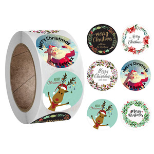 500 pcs New Roll Pack Sticker Christmas Holiday Gift Decorating Gift 1 Roll Home Merry Christmas Ornament Navidad Xmas Gifts