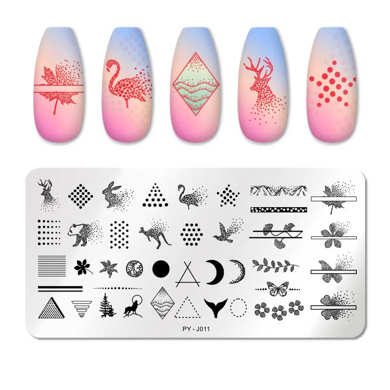 PICT YOU 12*6cm Nail Art Templates Stamping Plate Design Flower Animal Glass Temperature Lace Stamp Templates Plates Image 52