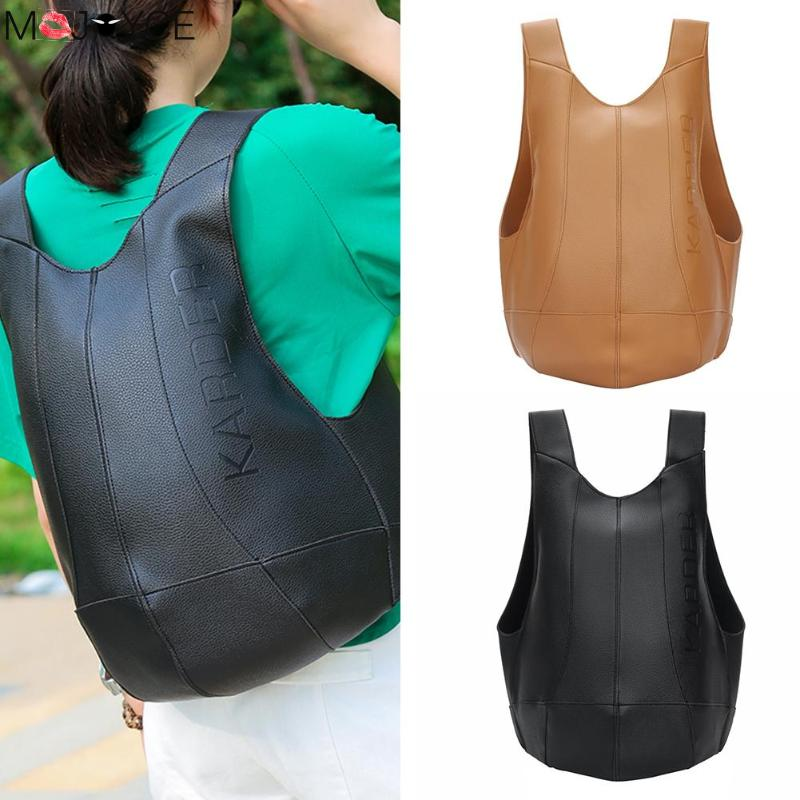 Women New Soild Color Bags Fashion PU Leather Backpack Anti Theft Women Multi-function Travel Shoulder Bag Backpack Bolso Mujer
