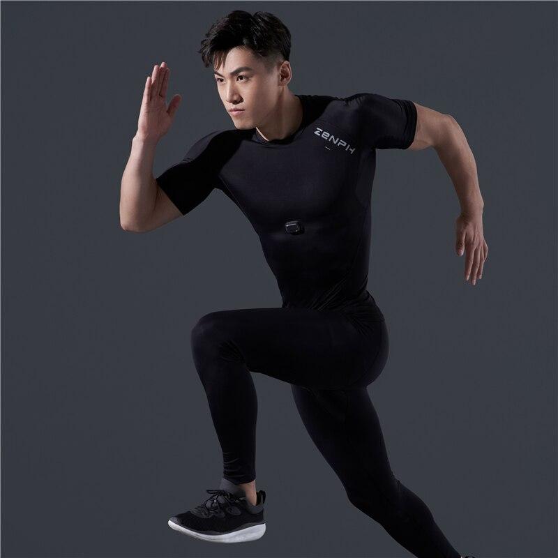 Zenph умная спортивная одежда, летняя футболка для фитнеса и бега, высокая эластичность, быстросохнущая, мониторинг в реальном времени, смарт ... - 2