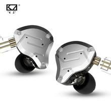 Kz zs10 pro no ouvido fone de ouvido metal 4ba + 1dd híbrido 10 unidades de alta fidelidade bass ears monitor esporte com cancelamento ruído 2pin para zsx