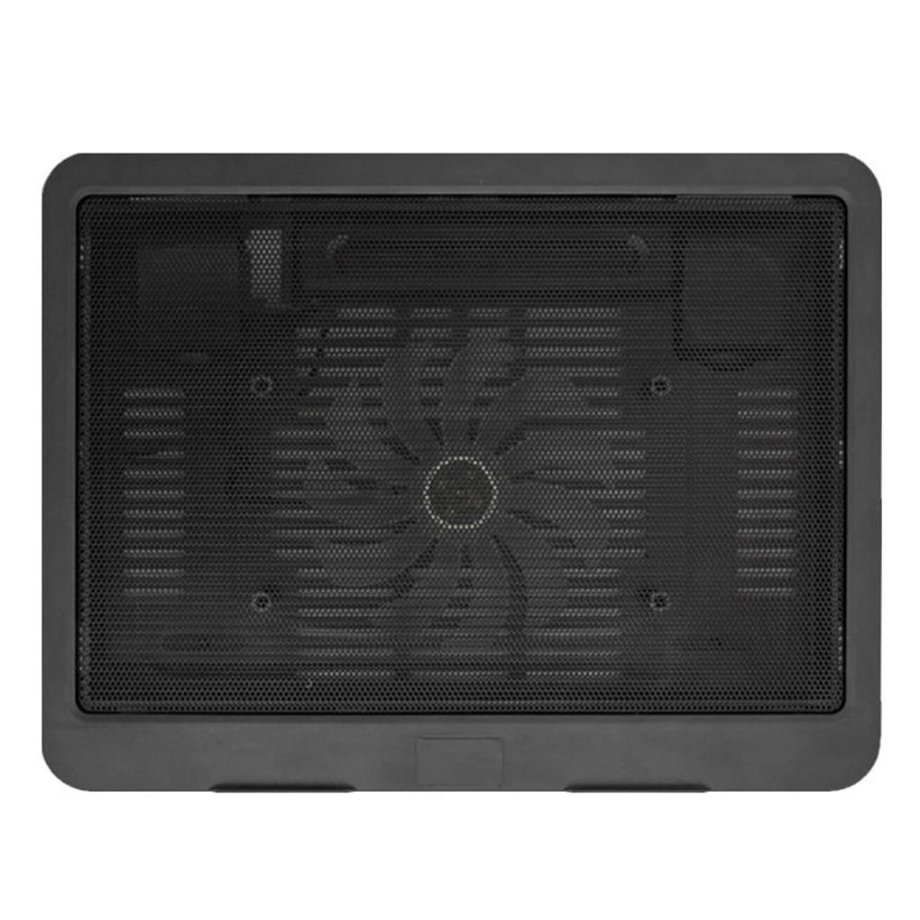 Черный ультра тонкий ноутбук охлаждающая подставка Регулируемая подставка ноутбук вентиляционный вентилятор USB компьютер кронштейн для охлаждения - Цвет: Черный