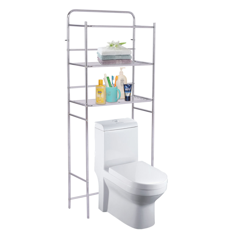 High Quality Sturdy 3 Tier Bathroom Space Saving Storage Shelf Rack Brilliant Chrome Finish Reducing Clutter Keeping Organized|Storage Shelves & Racks| |  - title=