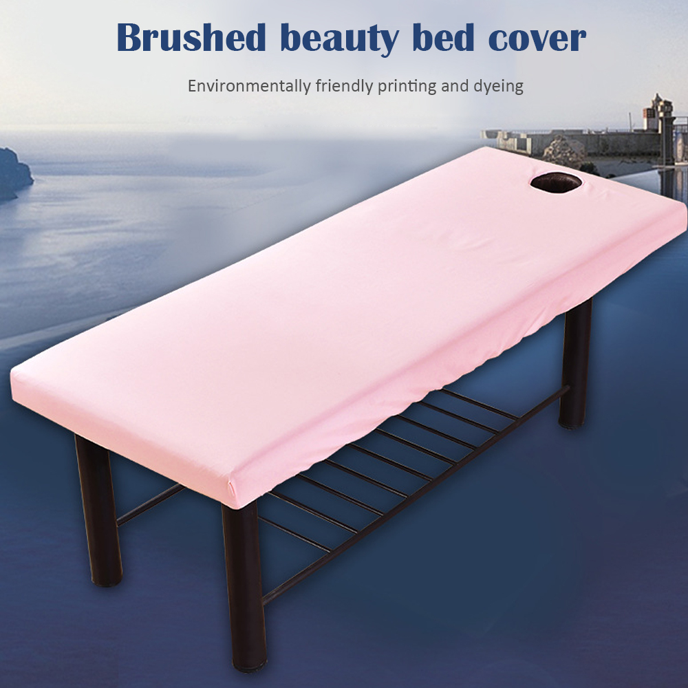 Massage Table Cover Soft Bed Sheet Couch Forepart Hole Polyester Elastic All-Round Wrapbed Spread For Massage Table 70*190cm