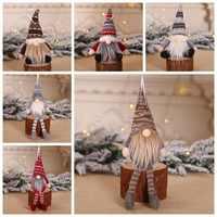Regalo de Año Nuevo 2020 para niños Linda decoración de Navidad muñecas de viejo encantadoras colgantes de Navidad divertida decoración de árbol de Gnomo