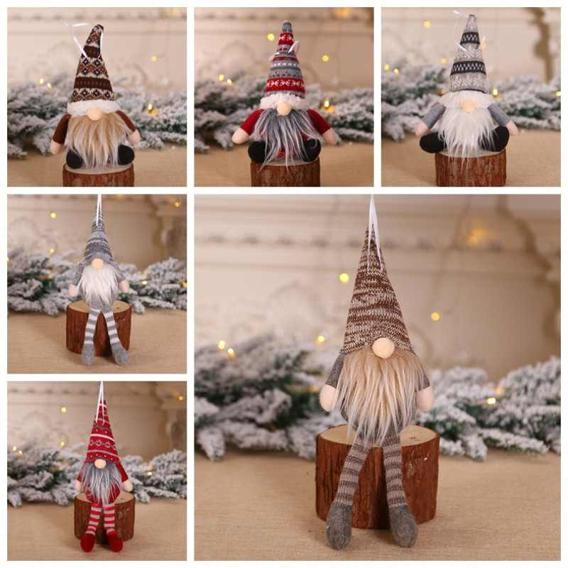 2020 New Year Gift for Kids Cute Christmas Decoration Lovely Old Man Dolls Hanging Pendants Xmas Funny Gnome Tree Decoration