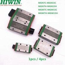 100% الأصلي Hiwin الخطي كتلة MGN7C MGN9C MGN12C MGN15C MGN7H MGN9H MGN12H MGN15H MGW7C MGW15C MGW7H MGW15H ل السكك الحديدية
