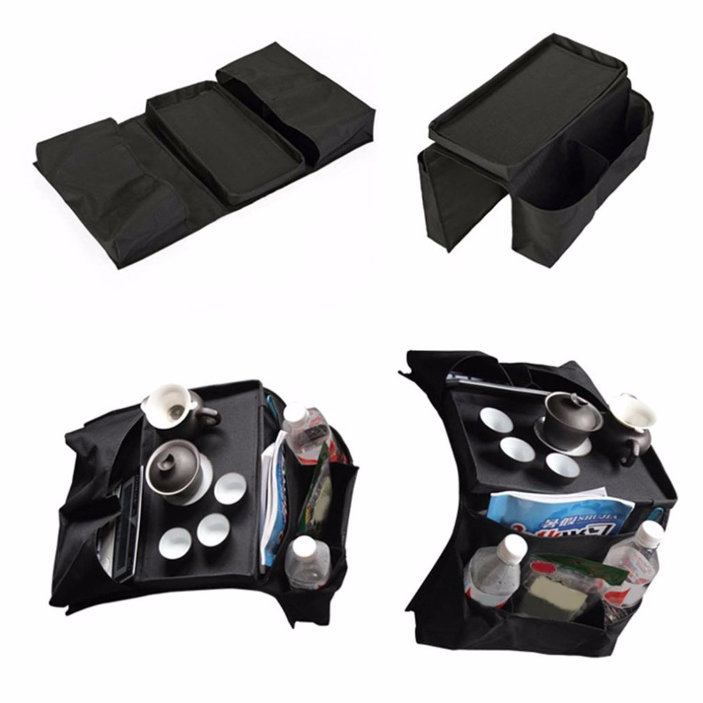 High Quality 6-<font><b>Pockets</b></font> <font><b>Sofa</b></font> Storage Bag Arm Rest Organizer <font><b>Remote</b></font> Control Holder Bag Tray Organizer <font><b>For</b></font> Home Storage Bags image