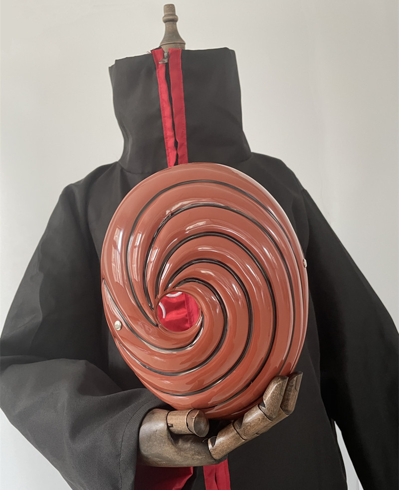 Costume de Cosplay Akatsuki Tobi Obito, cape à manches longues, Costume de carnaval d'halloween amusant pour adultes