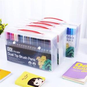 Image 5 - Drop Verschiffen 100 Farbe Marker Scan Marker Zeichnung Pinsel Stift Zeichnung Malerei Aquarell Marker Kunst Stifte Marker