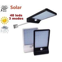 48 LED 450LM Solar Lamp Human Body Induction Wall solar Light 3 Mode Dimmable Outdoor Garden Yard Path spotlight floodlight