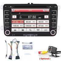 7Inch 2DIN Car radio DVD GPS stereo MP3 Player fm transmitter for Volkswagen VW golf 6 passat b6 B7 with backup camera support