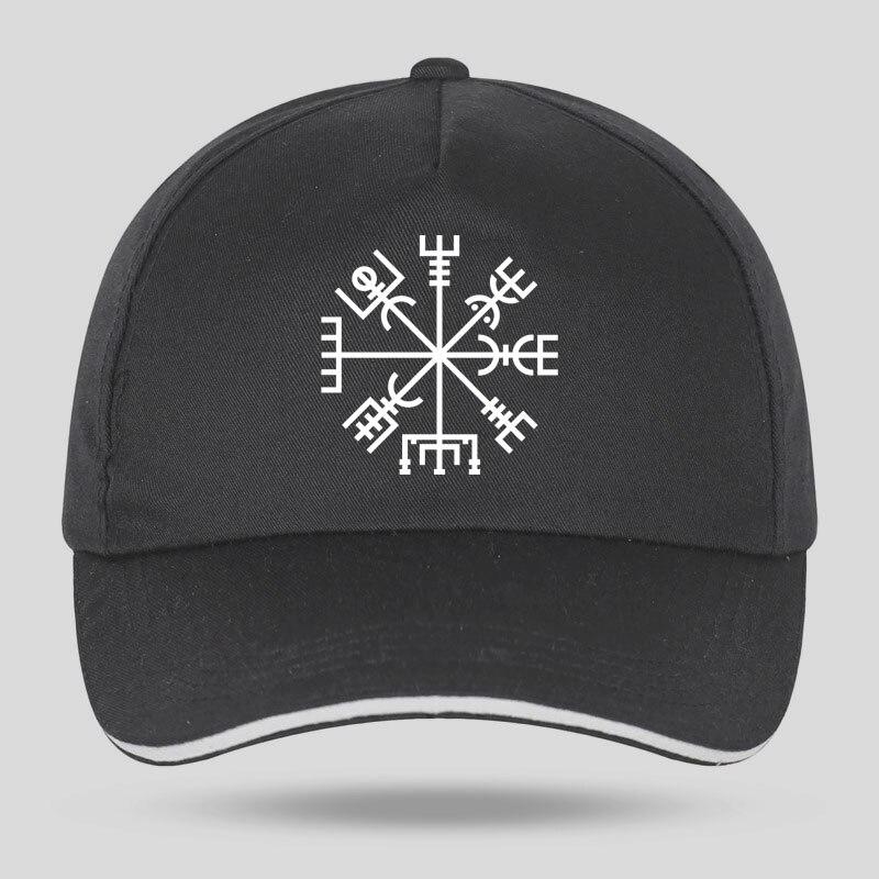 New Men Women Fashion Viking Rune Vegvisir Talisman Symbol Baseball Caps For Hip Hop Cotton Velcro Trucker Cap Bone Dad Hats