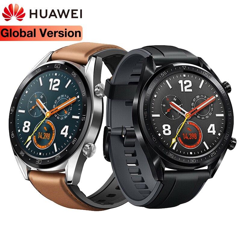 Original global huawei relógio inteligente gt à prova dwaterproof água rastreador de freqüência cardíaca suporte gps homem esporte rastreador smartwatch para android ios