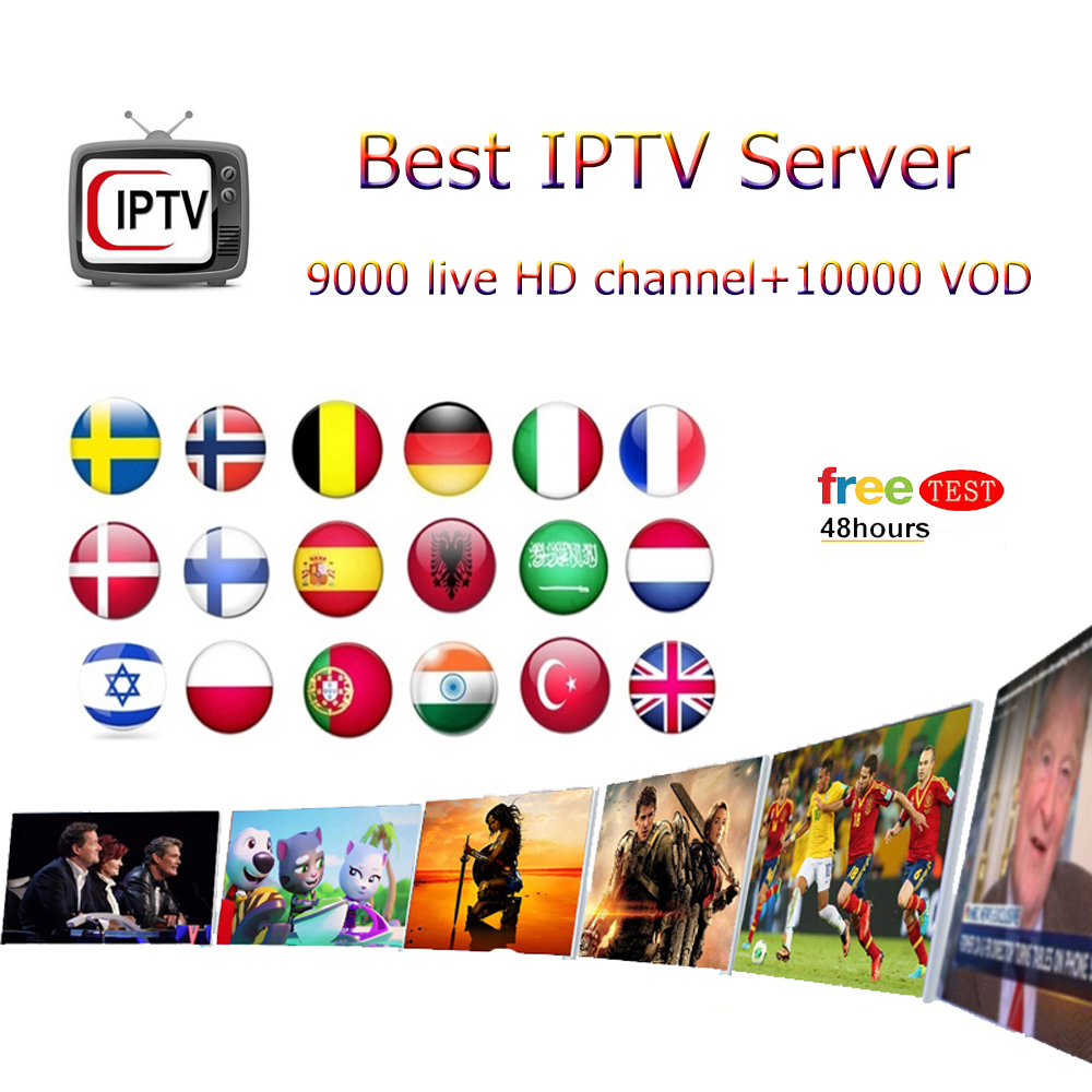 European IPTV Subscription 9000+ Live 10000+ Vod Adult For Mag M3u All Europe Spain Arab Africa Albania Android Smart TV Receive