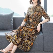 Women's dress women 2020 summer new fashion retro printed slim dress