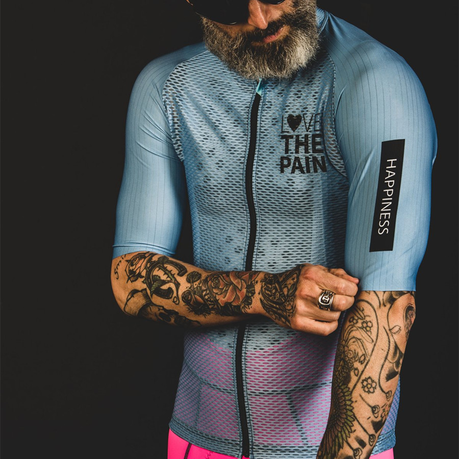 LOVE High Quality Cycling Jersey Men Mtb Bike Shirt Breathable Quick-drying Mesh Sweatshirt Maillot Ciclismo Hombre