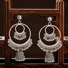 Retro Indian Jewelry Jhumka Jhumki Drop Earrings Gypsy Gold Silver Color Tassel Earrings For Women Fashion Jewelry