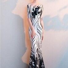 Черные и белые вечерние платья полупальто русалки Формальное вечернее платье