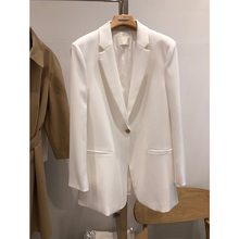 Stylish Loose Ladies Blazer Simple Solid White Casual Suit Jacket Blazer Lentejuela Mujer Korean Spring Women Blazer MM60NXZ