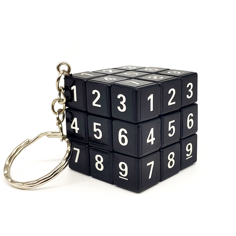 3.5CM Mini 3x3x3 Magic Cubes Keychain Magic Cubes Pendant Twist Puzzle Antistress Toys for Children cubo magico(China)