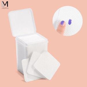 Image 1 - Removedor de unhas de algodão absorvente, removedor de fiapos, toalhetes de algodão para unhas, limpador não tóxico, 200 peças guardanapos para polimento