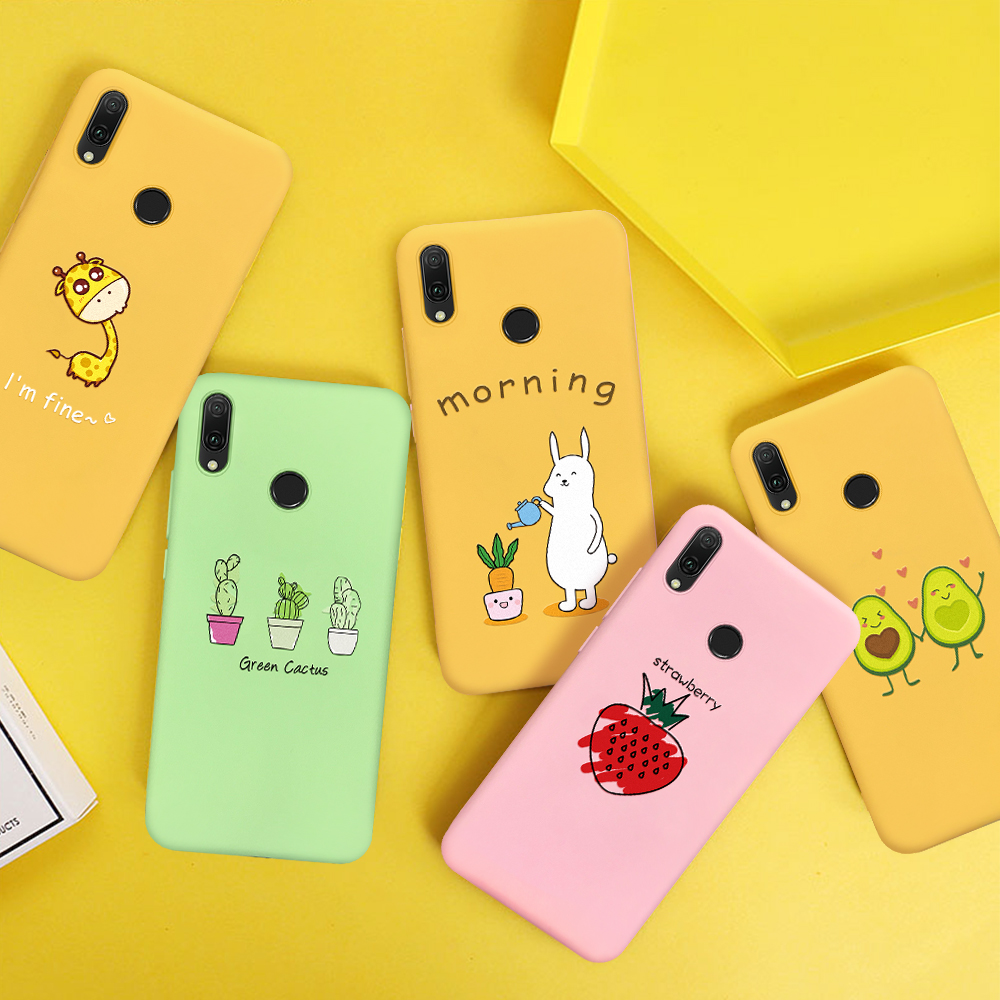 Luxury Silicone Pattern <font><b>Case</b></font> For <font><b>Huawei</b></font> <font><b>P20</b></font> <font><b>Lite</b></font> 2019 <font><b>Mate</b></font> 20 Pro 10 P30 <font><b>P20</b></font> Pro P10 <font><b>Lite</b></font> Cute Giraffe Fruit Printing Phone <font><b>Case</b></font> image