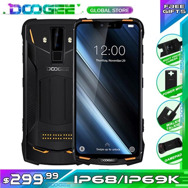 DOOGEE teléfono inteligente S90 Original, IP68/IP69K, superimpermeable, a prueba de golpes, 5050mAh, 6,18 , MT6671, Helio P60, 6GB, 128GB, cámara de 16MP
