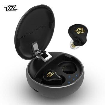 KZ T1 TWS Hybrid Technology Bluetooth Earphone V5.0 TWS Bluetooth Earphone Noise Cancelling Earbud KZ AS12/AS16/ZS10 pro/ZSN PR0 3 in 1 corner rounder
