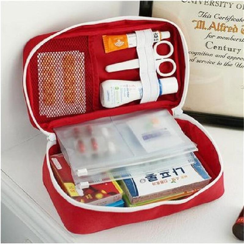 Portable First Aid Kit Medicine Storage Bag Travel Accessories Emergency Drug Cotton Fabric Medicine Bag Pill Case Splitters Box