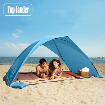 Lightweight Portable Sun Shelter Beach Tent Summer Outdoor Garden Sun Awning Sun Shade Canopy Easy Setup Camping Fishing Hiking 1
