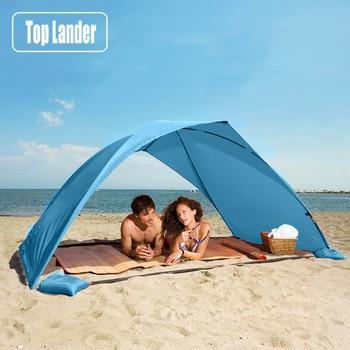 Lightweight Portable Sun Shelter Beach Tent Summer Outdoor Garden Sun Awning Sun Shade Canopy Easy Setup Camping Fishing Hiking 1