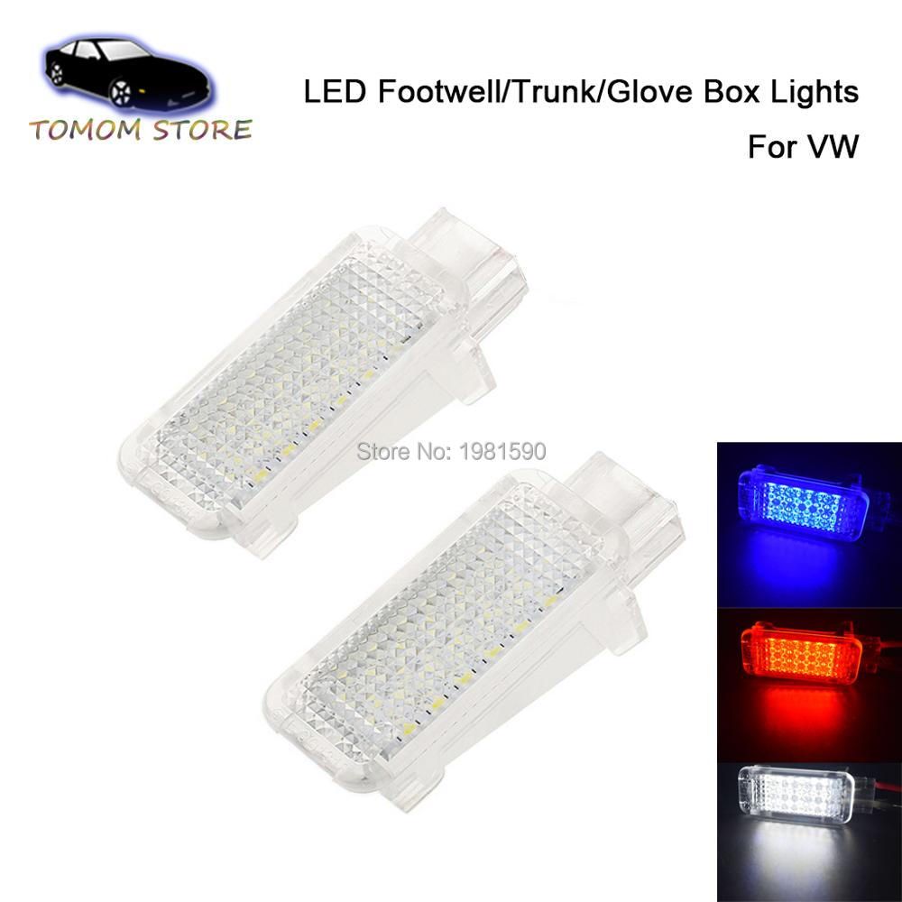 2PCS 18SMD LED Car footwell interior lights for A6 S6 C5 RS6 A7 S7 Q7 <font><b>A8</b></font> S8 D3 D4 R8 TT auto accessory image
