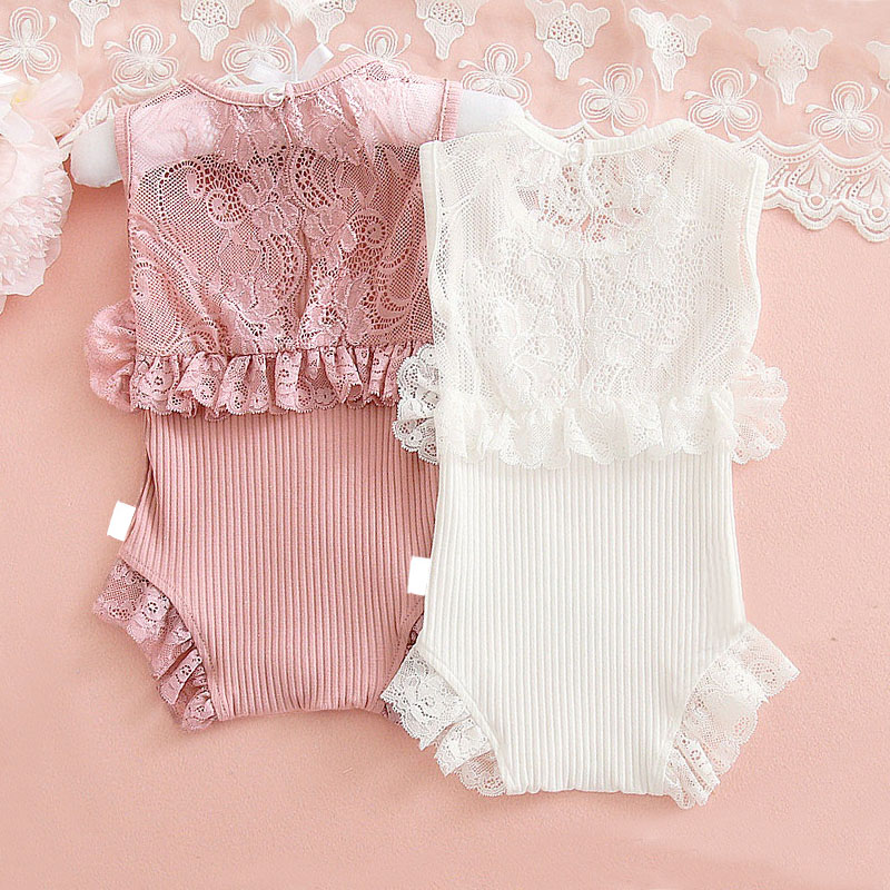 Newborn Baby Girl Rompers Lace Princess First Birthday Party Girl Clothes Baby Girl Clothing Summer Infant Onesie Baby Costume