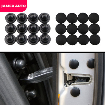 Jameo Auto Car Door Lock Screw Protector Stickers Cover for Peugeot 206 207 301 307 308 407 408 508 2008 3008 4008 image
