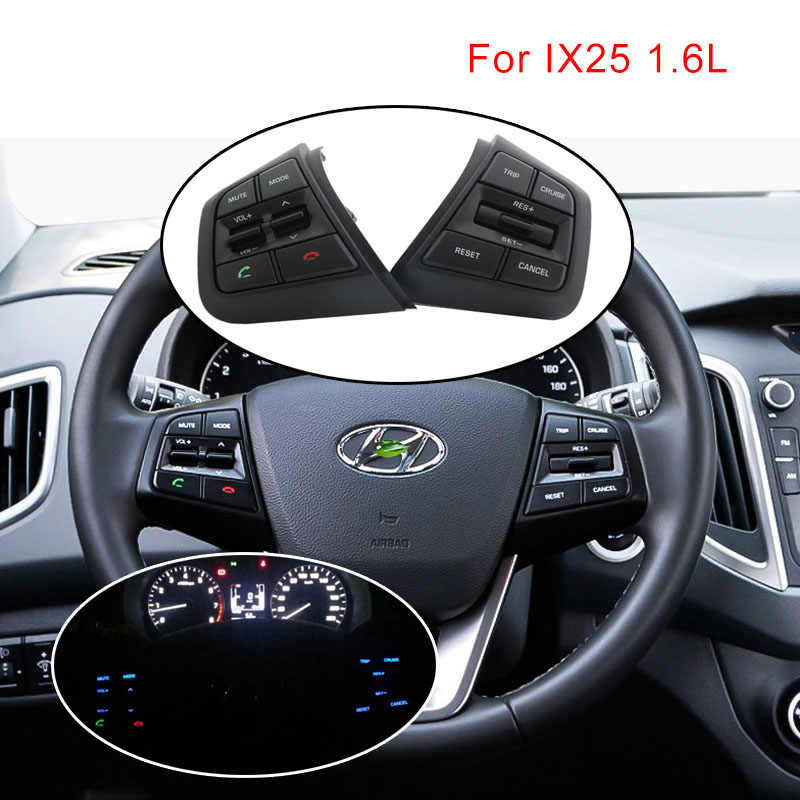 Steering Wheel Cruise Control Konb For Hyundai creta ix25 1.6L 2.0L Multifunction Buttons Bluetooth Remote Volume Switch