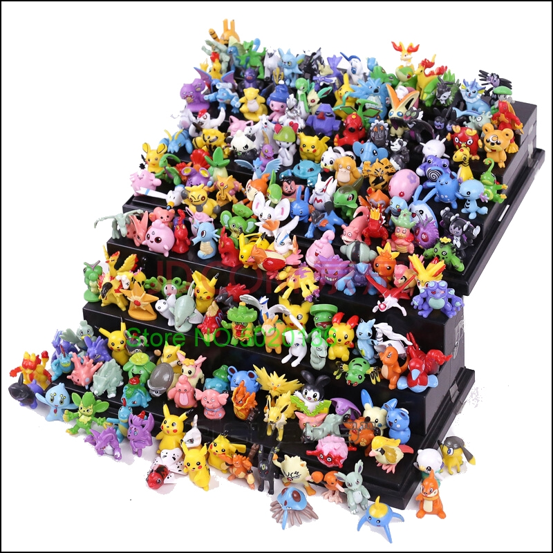 144 288 Pcs Different Styles Pokemones Go Figures Model Collection 2-3cm Pikachu Anime Toys LOLS Dolls Child Birthday Gift