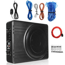 600W 10 Pollici Amplificatore Auto Subwoofer Car Audio Sottile Sotto Il Sedile Subwoofer Attivo Bass Speaker Subwoofer Auto Woofer
