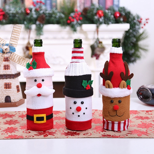 Santa Claus Wine Bottle Cover – Christmas Decorations For Home