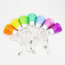 ABEDOE Mini color ful 5 Вт лампочка USB Light портативный светодиодный светильник для работы с power Bank notebook для пеших прогулок, кемпинга, путешествий(цвет случайный