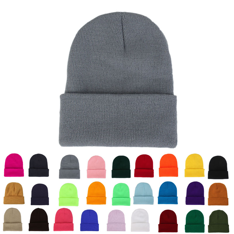 Autumn Winter Fashion   Beanies   for Men Warm Unisex Woman Hat Cute Bonnet Femme Knitted Hat 2019 Black White Red Pink Korean Cap