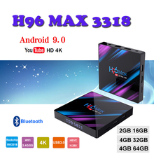 Belgium tv box H96 MAX 3318 4GB RAM 64GB H.265 USB 3.0 1080P WiFi 2.4G/5G smart tv box media player support Netflix youtube 4gb ram 64gb rom android 7 1 smart tv box h96 pro rk3328 wifi support netflix youtube usb 3 0 h 265 4k media player set top box