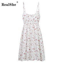 2017 Robe Plissée Robes Floral Mini Robes Sans Manches Robes Col Rond Robe De Festa Femmes de Boho Robes Couleur 21-40(China)