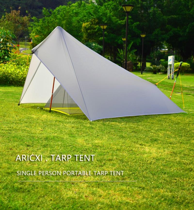 Aricxi Ultralight Camping Tent 15D Nylon Silicon shelter tarp 1 Person 3  Season 4 season Rain Fly Tent Tarp Tents  - AliExpress