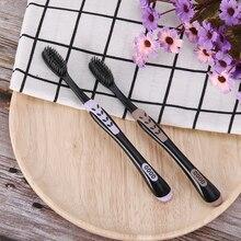 2 шт./упак. с черными бамбуковыми Зубная щётка Эко-дружественных зубная щетка зубные щетки с мягкой щетиной для жениха древесный уголь Нано-зубная щетка для чистки зубов