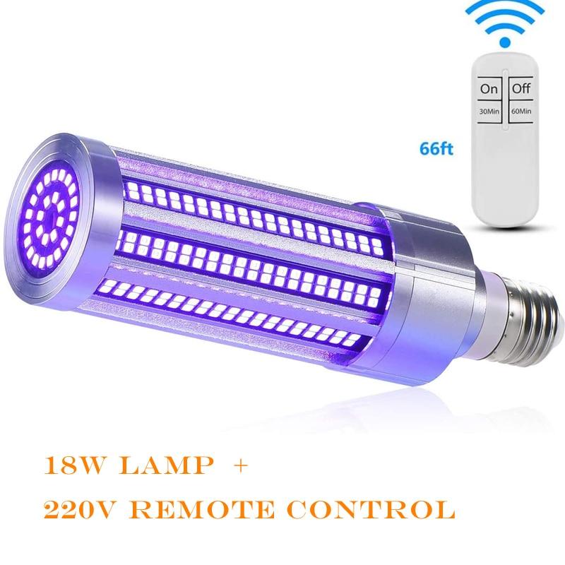 UV Light Sanitizer Sterilizer Lamp UVC Germicidal Disinfection Bulb E26/E27 18W/60W 110V E26 Ozone Killing Virus Mite Bacteria