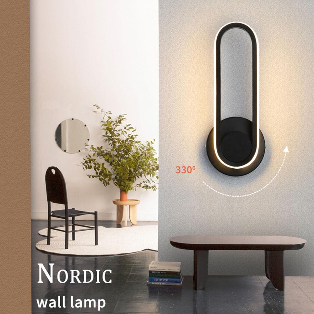 New arrival  modern minimalist bedroom bedside  Led wall lamp simple creative living room hotel aisle LED rotatable wall light