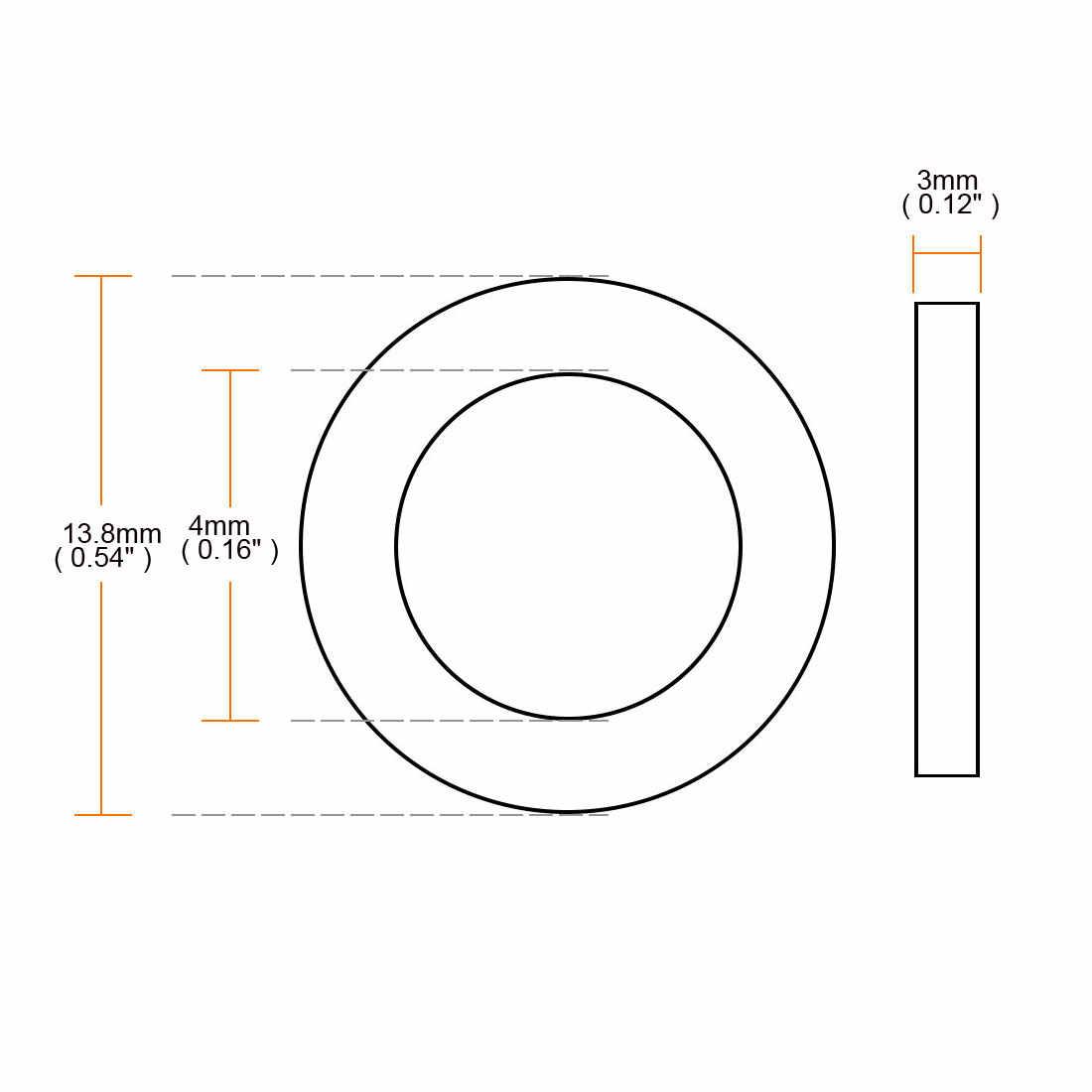 Uxcell gorąca sprzedaż 50 sztuk 3 rozmiary 11mm 13mm 16mm OD o-ring wąż uszczelka płaska podkładka gumowa Lot dla kran przelotka czarny